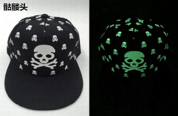 Fluorescent Hip-hop Hat Summer Night Light Fashionable Outdoor Sun Hat Flat Along The Baseball Cap Flat Bill Snapback Baseball Hip-hop Cap