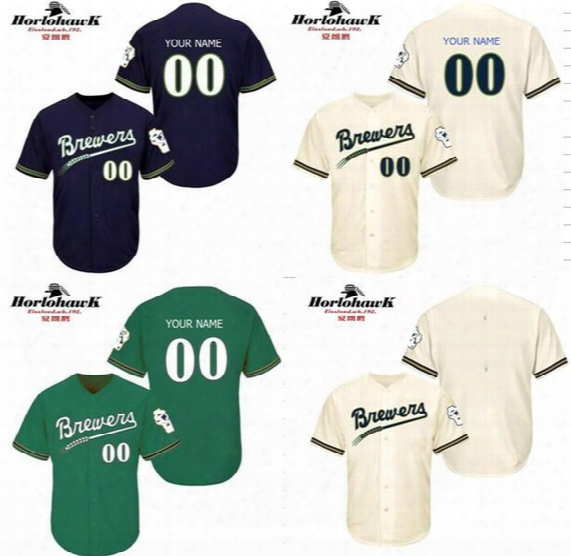 Free Shipping New Design Custom Milwaukee Brewers Cool Base Throwback Baseball Jersey S-5xl For Sale Stitched