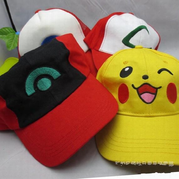 Free Shipping Pake Mon Ash Katchum Hat Cap Cosplay Anime Baseball Cap Sun Hat