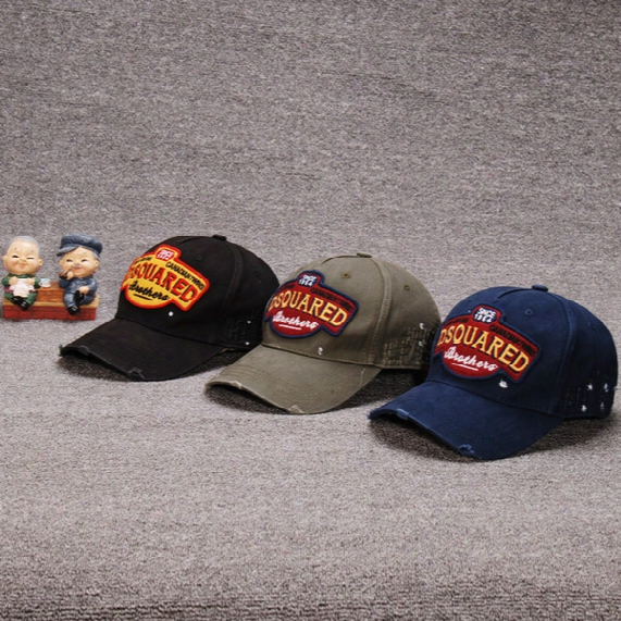 Freeship Factory Wholesale Authentick Quality Four Seasons Leisure Letter D2 Hat Baseball Cap Caps Cotton Outdoor Hats