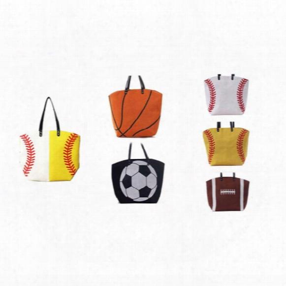 High Quality Baseball Softball Basketball Designer Handbag Scotton Canvas Flap Bag Single Shoulder Bags For Women Beach Sports 15*12*5inch