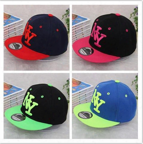 High Quality Kids Ny Snapback Hot Children Boys Igrls Ny Letter Embroidery Cotton Baseball Cap Boys&girls Snapback Caps Hip Hop Sun Hats