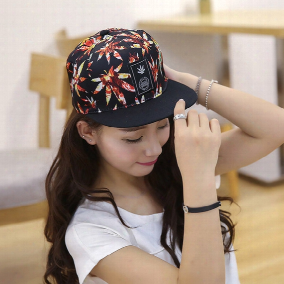 Hip Hop Maple Leaf Adjustable Snapback Cap Hat Baseball Caps Four Seasons Sunhat Hiphop Ball Hats For Cheap Boys And Girls