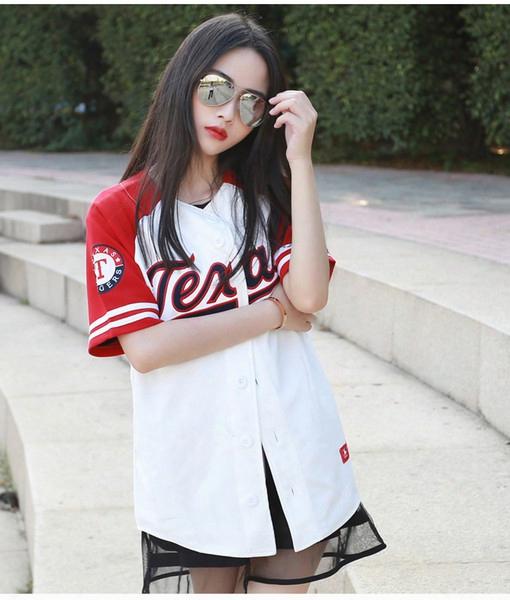 Hip Hop Sports Fashion Baseball T Shirt Mlb Korean Style Mens Womens Tide Mujeres Camiseta Harajuku Punk Jerseys T-shirts Top Tees