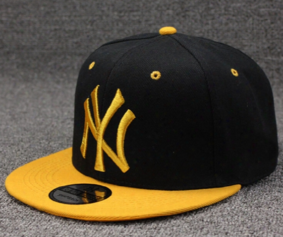 Hot Sale Adjustable Yankees Hip Hop Hats Snapback Baseball Caps Letter Ny Hats Flat Edge Unisex Sports New York Women Men Casual Hats