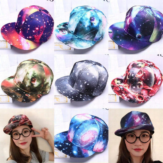 Hot Sale Brand New Galaxy Pattern Space Print Snapback Style Women Men Hats Unisex Fashion Baseball Hip Hop Cap Retail Free Shipping