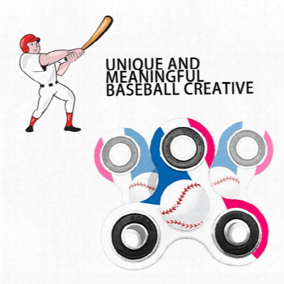 In Stocking!!! Newest Baseball Hand Spinner Fidget Hand Spinner Baseball Multi-color, Edc Focus Colorful Toys For Kids & Adults Epacket Free