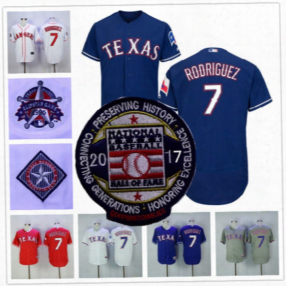 Ivan Rodriguez Jersey With 2017 Hall Of Fame Patch Texas Rangers 1995 Baseball Cooperstown Vintage Flexbase Cool Base