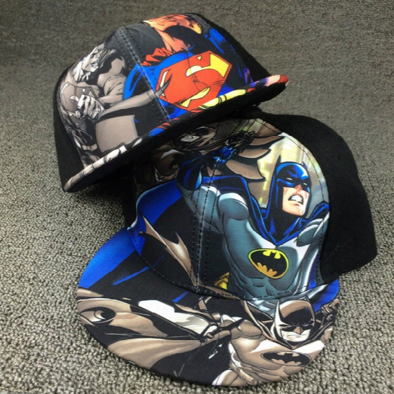 Kids Baseball Cap Fashion Iron Man Captain Superman Batman Spider-man 3d Printed Snapback Caps Children Boys Hip Hop Hat