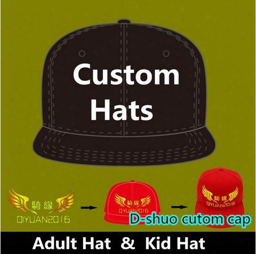 Logo Custom Baseball Caps Hip Hop Snapback Adult Kids Size Embroidery Printing Logo Fitted Full Complete Closed Hat Factory