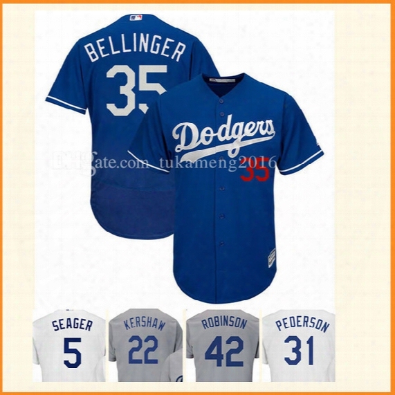 Los Angeles Dodgers 35 Cody Bellinger Baseball Jerseys Mlb Embroidery Stitched Bellinger Kershaw Gonzalez Puig Flex Base Cool Base Jersey