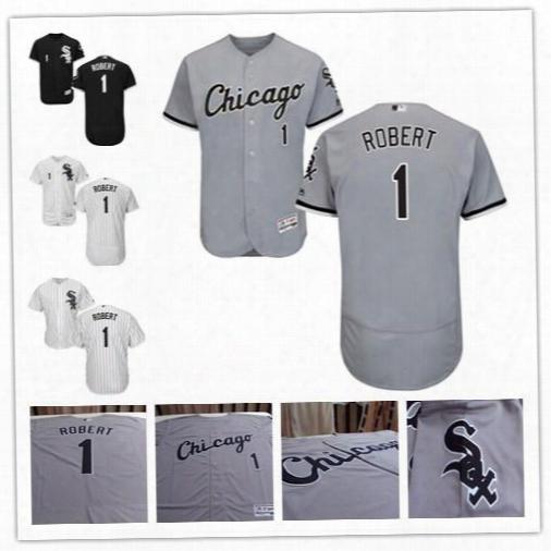 Luis Robert Jersey #1 #26 Chicago White Sox Baseball Jerseys Black Grey White