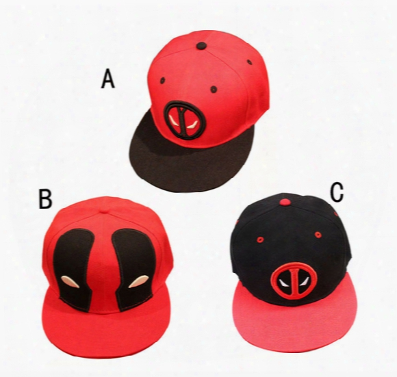 Marvel Deadpool Hat 3 Design Superhero Deadpo Ol Snapback Bone Aba Reta Costumes Cotton Baseball For Men Women Sports Hip Hop Cap B001