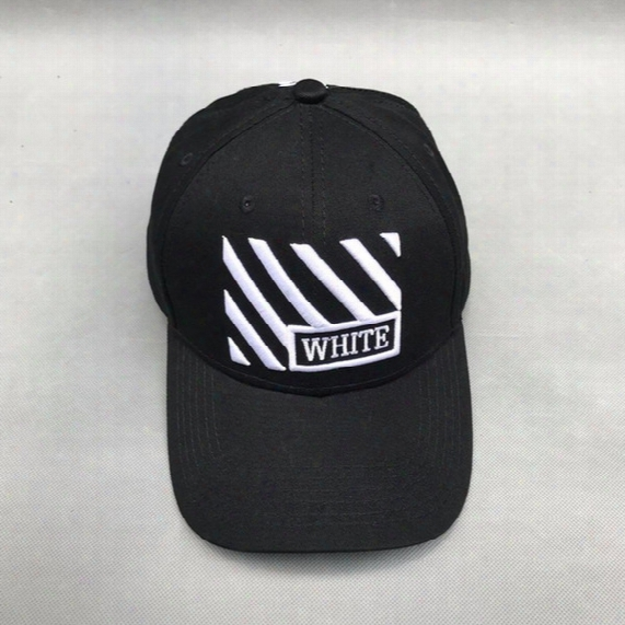 Men Women Off White Embroidery Hats Hip Hop Streetwear Snapback Mens Black Red Baseball Cap Virgil Abloh