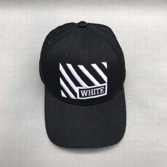 Men Women Off White Embroidery Hats Hip Hop Streetwear Snapback Mens Black Red Baseball Cap Virgil Abloh