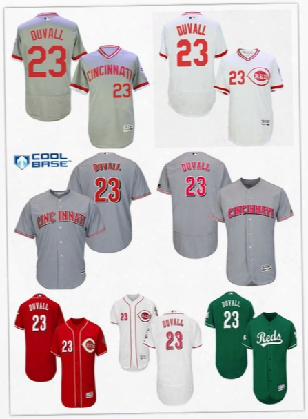 Men's 2017 Cincinnati Reds #23 Adam Duvall Baseball Jersey Cheap Rugby Jerseys Authentic Stitched Free Shipping Size S-6xl