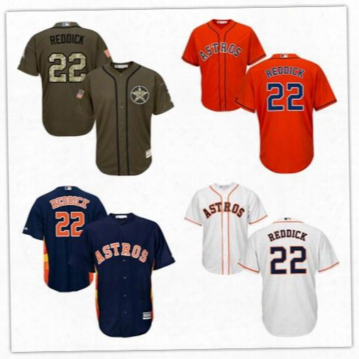 Men's 2017 Houston Astros #22 Josh Reddick Flexbase Coolbase Jersey Stitched White Orange Navy Blue Green Free Shipping Mix Order