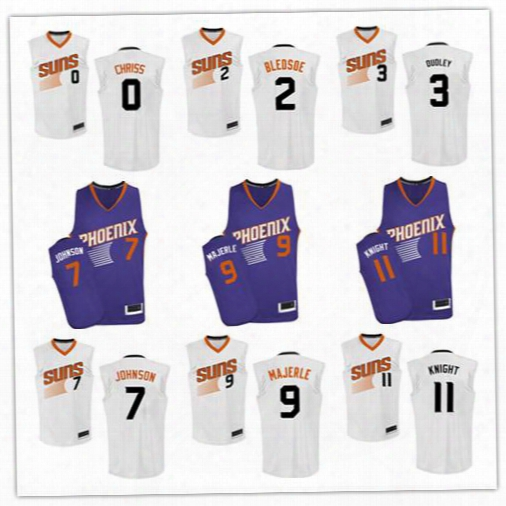 Men's Jerseys #0 Marquese Chriss #2 Eric Bledsoe #3 Jared Dudley #4 Tyson Chandler #7 Kevin Johnson #9 Dan Majerle #11 Brandon Knight Jersey