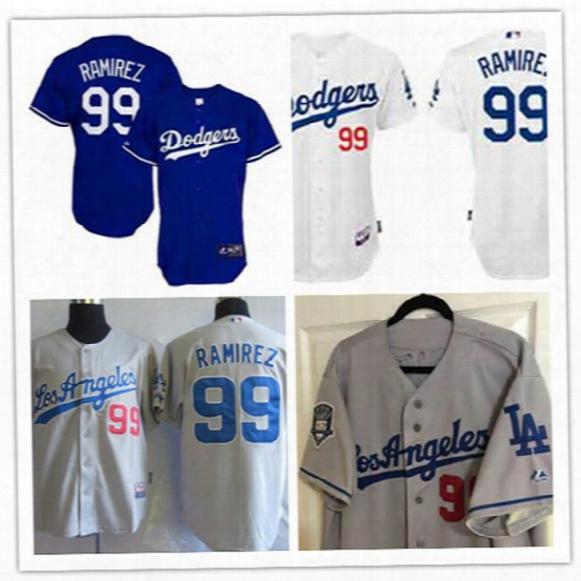 Mens Los Angeles Dodgers #99 Manny Ramirez Royal Cooperstown Jersey Manny Ramirez L.a. Dodgers Baseball Jersey S-3xl