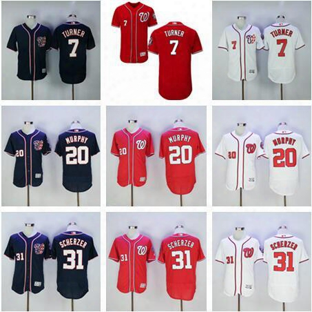 Mens Stitched Baseball Washington Nationals Daniel Murphy Jayson Werth Max Scherzer Bryce Harper Trea Turner Stephen Strasburg Jersey