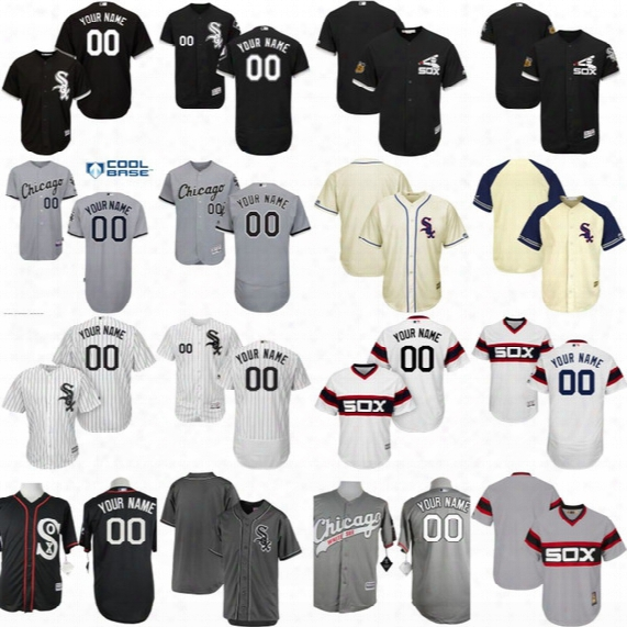Mens Womens Youth Chicago White Sox Customized Jersey Personalized Authentic Collection Customized Stitched Embroidery Logo Baseball Jerseys