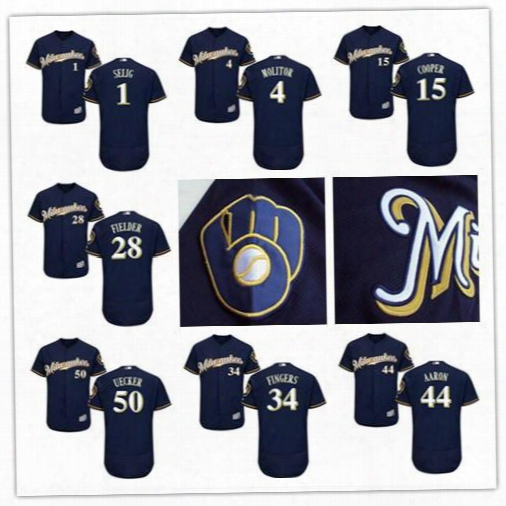 Milwaukee Brewers Throwback Jersey Bud Selig Paul Molitor Cecil Cooper Robin Yount Hank Aaron Bob Uecker Prince Fielder Rollie Fingers