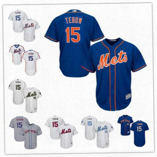 Mlb Men's New York Mets Tim Tebow 2017 Alternate Authentic Collection Flex Base Cool Base Player Replica Jersey Shipping Free