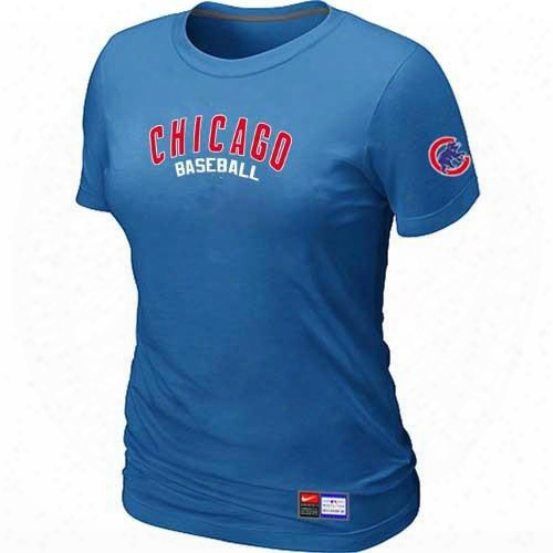 Mlb Tactical T-shirts Baseball Chicago Cubs Women Tops T-shirts 100% Cotton Short Sleeve Round Neck Many Colors In S-3xl Free-shipping