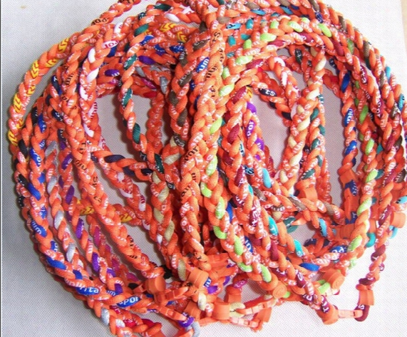 Nsw Baseball Sports Titanium 3 Rope Braided Sport Gt Necklace Many Colors