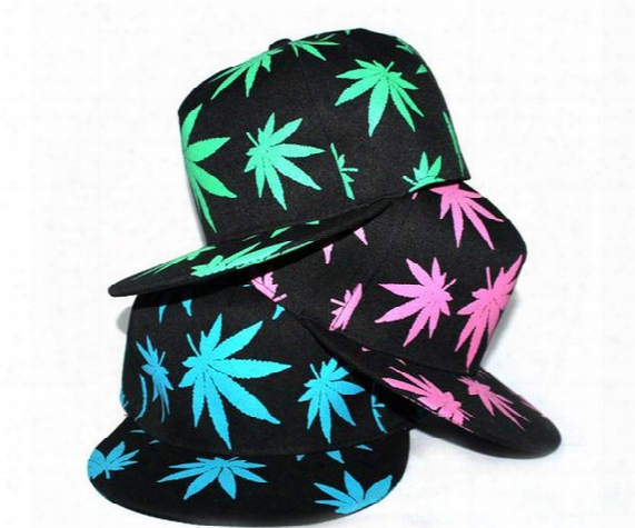New Fashion Summer Snapback Caps Embroidery Printing Maple Leaf Baseball Cap All-match Hip-hop Hat For Man