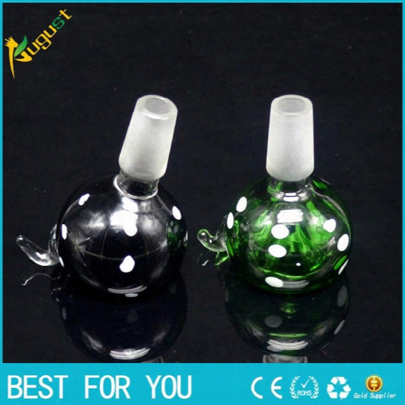 New Hot Smoking Pipe New Arrival 14 Mm Or 19 Mm Male Joint Glass Bowl For Smoking Pipe Glass Bubbler And Ash Catcher Glass Smoking Nail Oil
