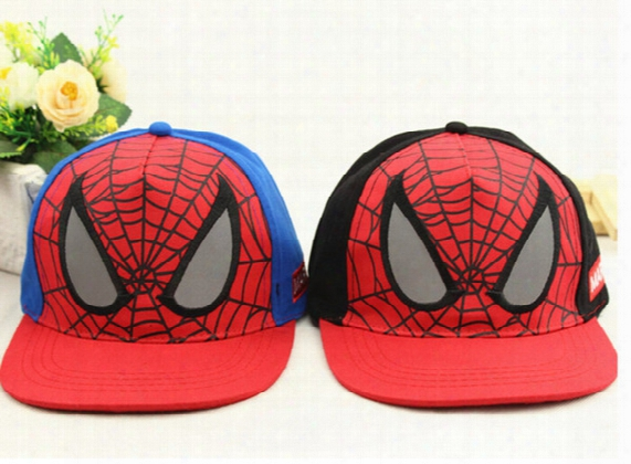 New Kids Snap Back Hat Caps Spiderman Children's Boys Baseball Cap Casual Hiphop Hats 2 Colors Free Shipping