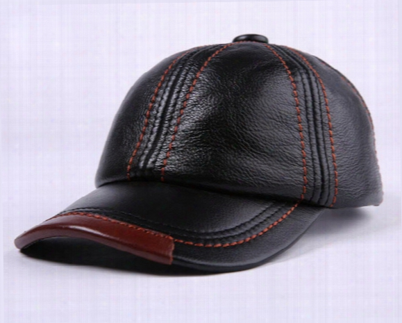 New Leather Cap Arder Baseball Cap In Autumn And Winter Outdoor Mens Tourist Cap