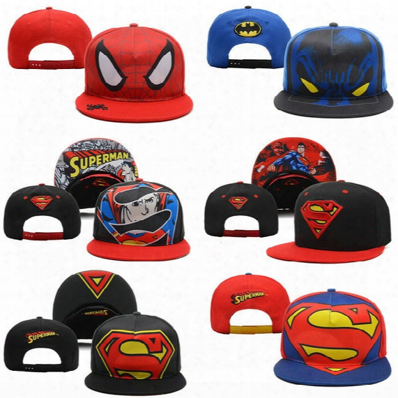 New Unisex Superman Batman Cartoon Baseball Cap Hip-hop Hat Dj Hat Snapbackk Wholesale Snapbacks Adjustable Hats Men Caps Women Ball Caps