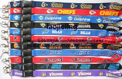 New Wholesale 60 Pcs Football Baseball Key Lanyard Mobile Neck Strap Mix Color Working Card Lanyard Free Shipping