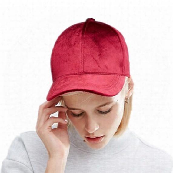 New Women Velvet Baseball Cap Mens Casquette Bone Cap Fashion Snapback Sport Cap Hip Hop Flat Hat Women Gorras
