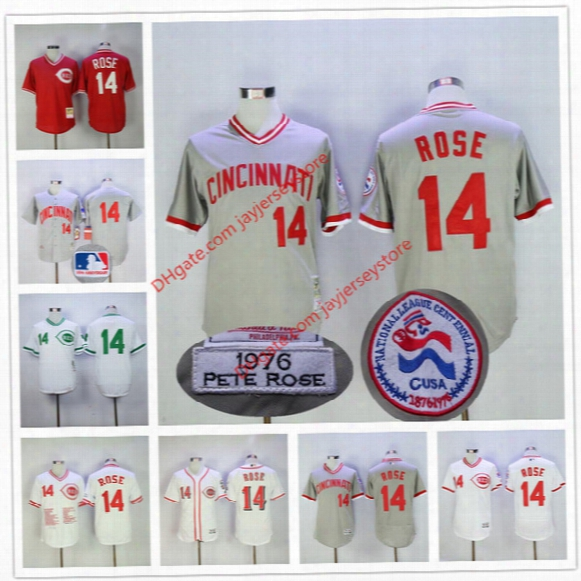Pete Rose Jersey Red Bp Mesh Flexbase Vintage White Grey Cincinnati Reds 1976 Montreal Expos Cooperstown Jerseys
