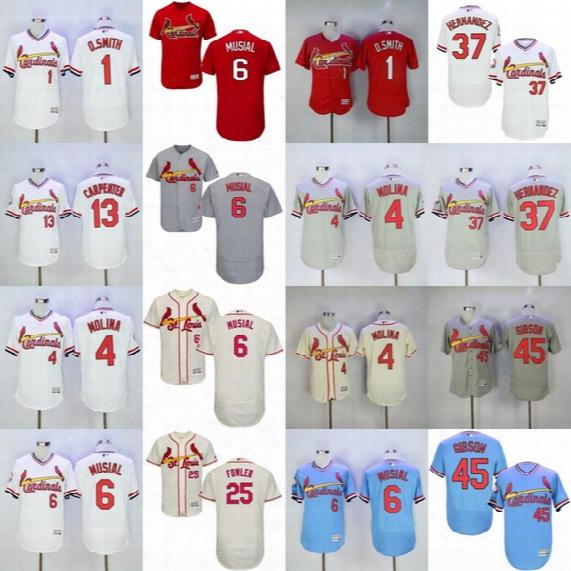 St. Louis Cardinals Jersey Flexbase Yadier Molina Matt Carpenter Dexter Fowler Adam Wainwright Michael Wacha Ozzie Smith Stan Musial