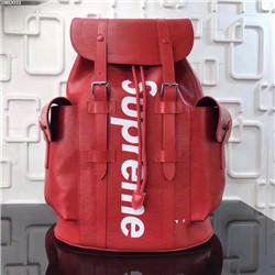Supreme X L V Backpack Authentic Quality Best Aaa+ M41709 Christopher 34x13x47cm Red Men Women School Bag Sport Outdoor Packs Bags