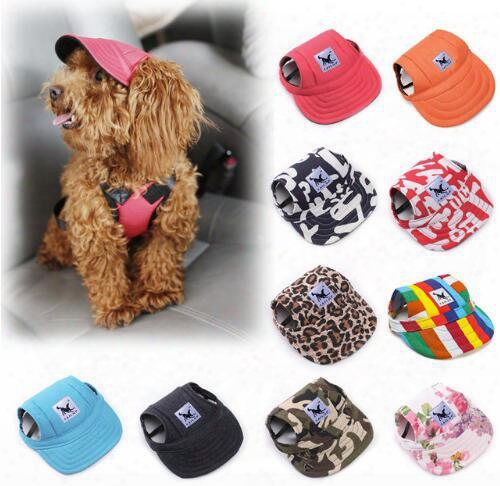 Tailup 2017 Hot Sale Sun Hat For Dogs Cute Pet Casual Cotton Baseball Cap Chihuahua Yorkshire Pet Products 11colors 679