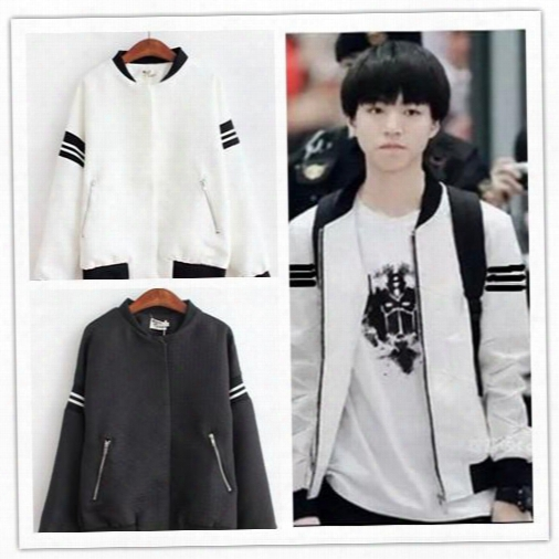 Tfboys Wang Junkai Wang Yi Xi Smelt One Thousand With A Baseball Uniform Long Sleeved Sweater Loose Tide Floral Casual Jacket