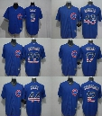 Chicago Cubs USA Flag Jersey 17 Bryant 9 Baez 12 Schwarber 22 Heyward 44 Rizzo 49 Arrieta Blue mlb baseball jerseys 100% Stitched