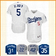 Los Angeles Dodgers 5 Corey Seager Baseball Jerseys MLB Embroidery Stitched Bellinger Kershaw Gonzalez Bellinger Flex Base Cool Base Jersey