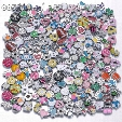 New Arrvials Wholesale 8mm size Slide Rhinestone charms DIY slide accessories charms for DIY snaps bracelets belts