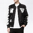 OFF White Varsity Jacket Letters Diagonal Spray Baseball Sports Jacket Coat Men Women Lovers Skateboards Hoodie Winter Outwear PXG0711