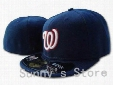 Wholesale-Top Quality Washington Nationals Baseball Fitted Hats Classic Navy Blue Color With White W Brand Sports Team Flat Caps