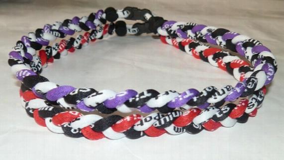 Titanium Braided 3 Ropes Necklace Tornado Sports Football Baseball New Tornado Necklace