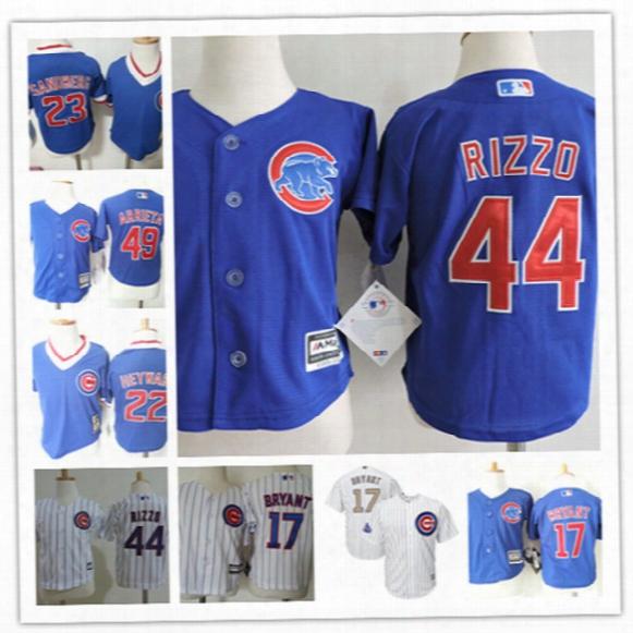 Toddler Chicago Cubs Kris Bryant Cool Base Jersey Preschool Jason Heyward Ryne Sandberg Anthony Rizzo Jake Arrieta Cubs Baby Jersey 2t-4t