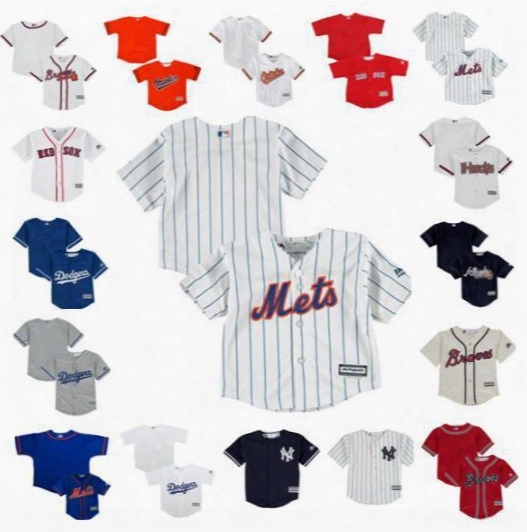 Toddler Custom Baseball Jerseys Diamondbacks Atlanta Braves Baltimore Orioles Boston Red Sox Los Angeles Dodgers New York Yankees Ny Mets