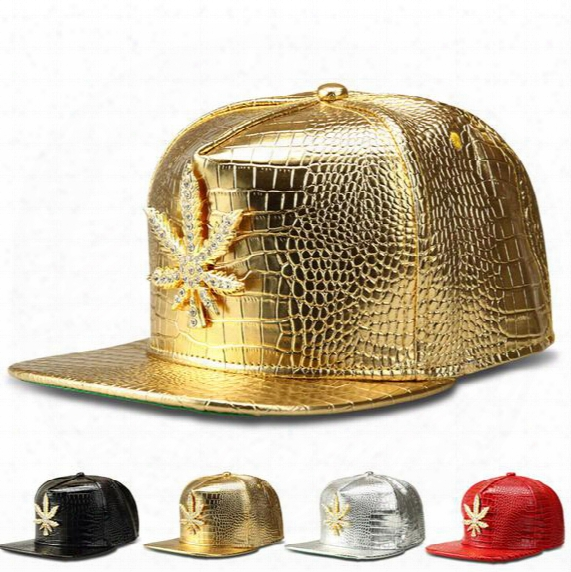Wed Snapbacks Caps Hats Hip-hop Caps Wed Baseball Caps Gold Leather Wed Snapback Hats For Men Women Adjustable Snapbacks Top Quality D472